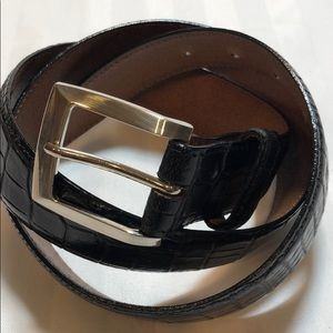 Veari men's alligator belt- black size 36